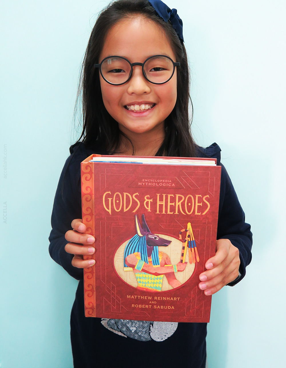 Alice C. scored a copy of a pop-up mythology book, 'Gods & Heroes'!