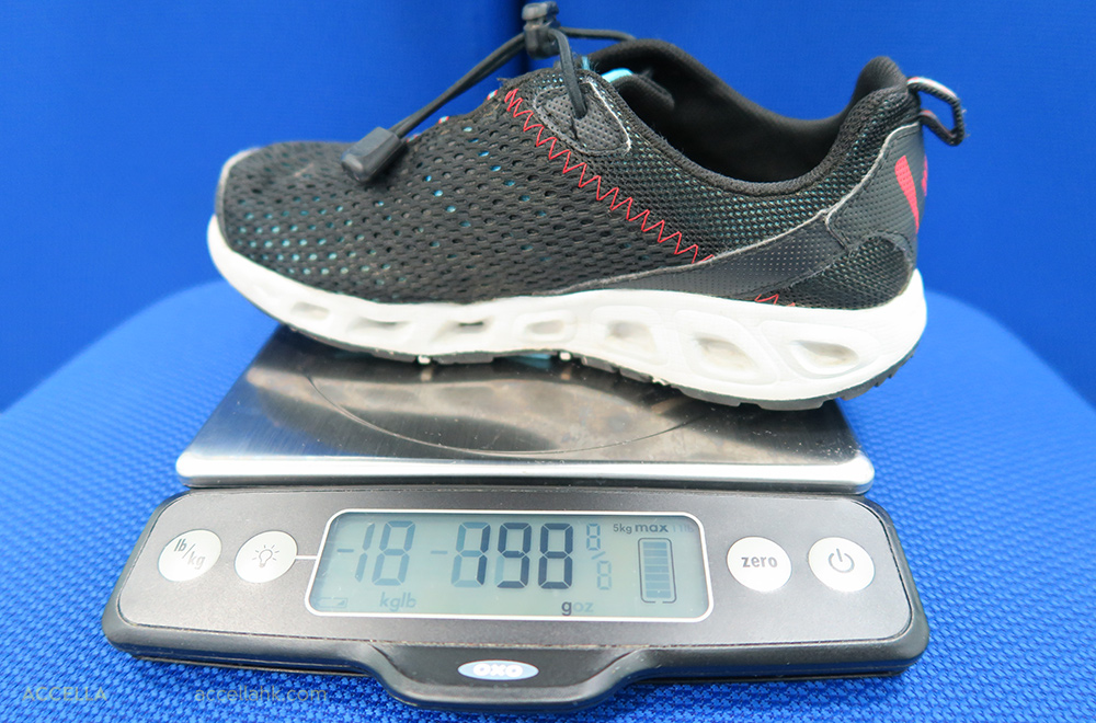 Adrian W.'s shoe weighed in at 198 grams.