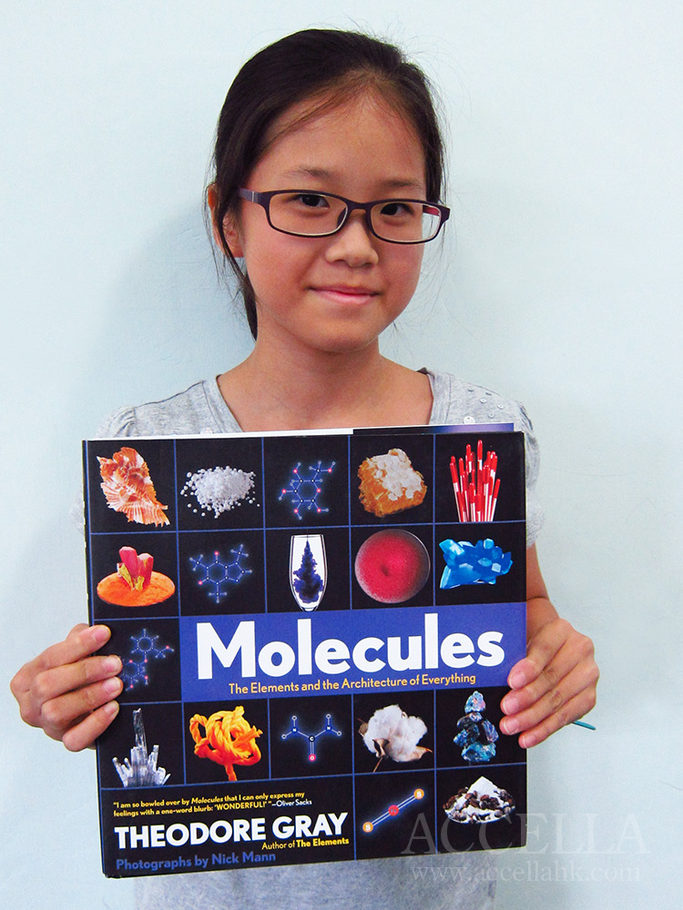 In recognition of the extra engagement that Sonia C. has demonstrated, we surprised her with a copy of 'Molecules'.