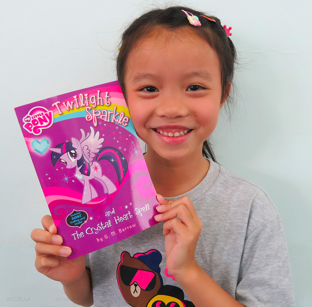 JaffeW, one of our newest students, just earned her first book through our rewards card program!