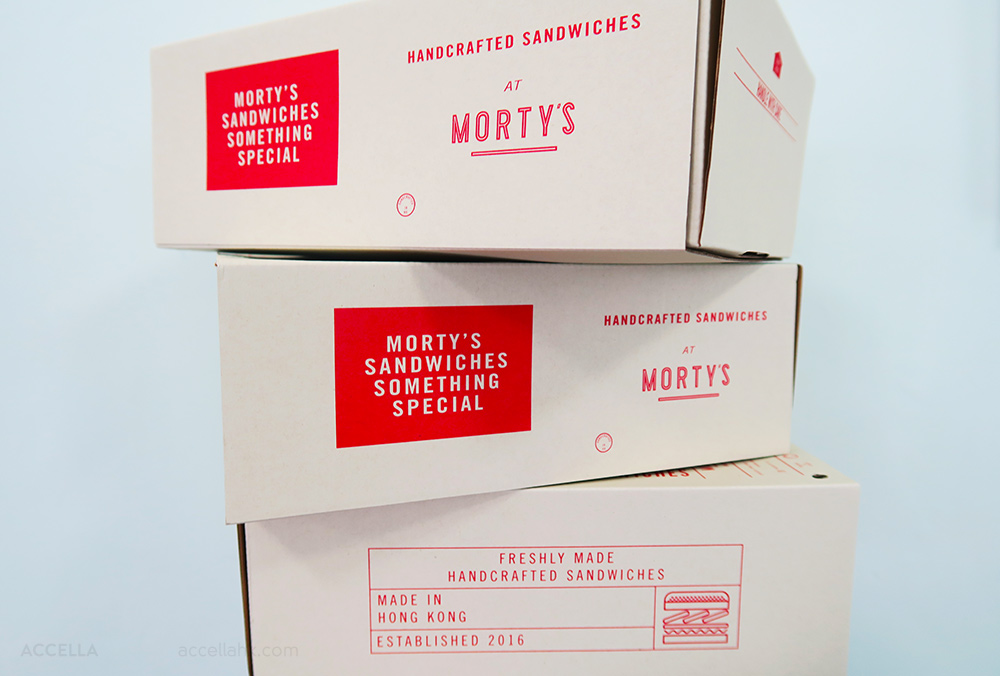 Morty's Delicatessen boxes post-feast: empty.