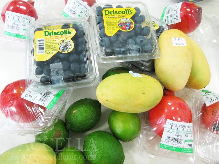 Our fruit salad ingredients.